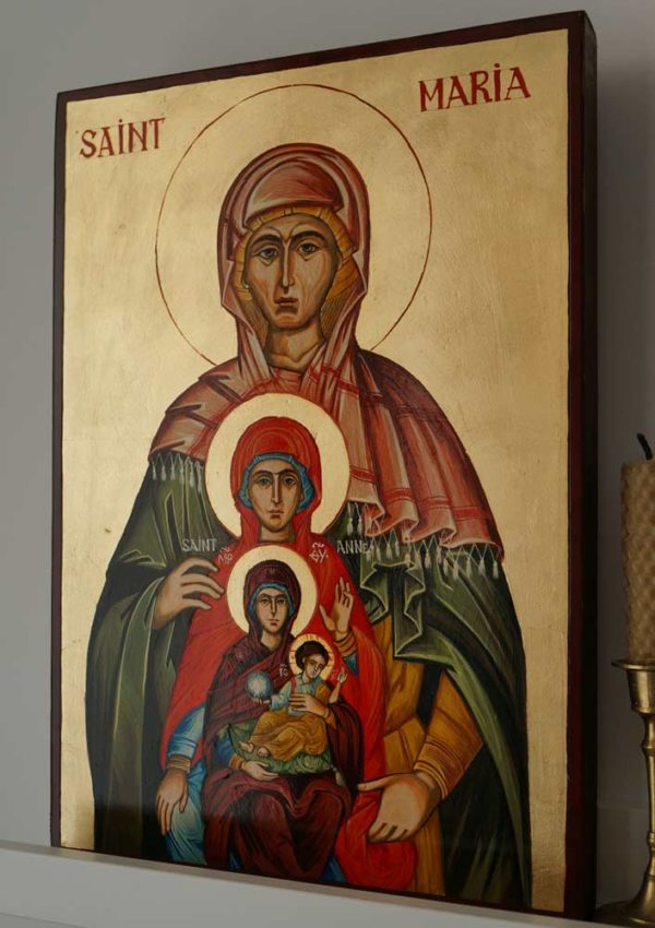 St Maria Great-Grandmother of Jesus Hand-Painted Icon