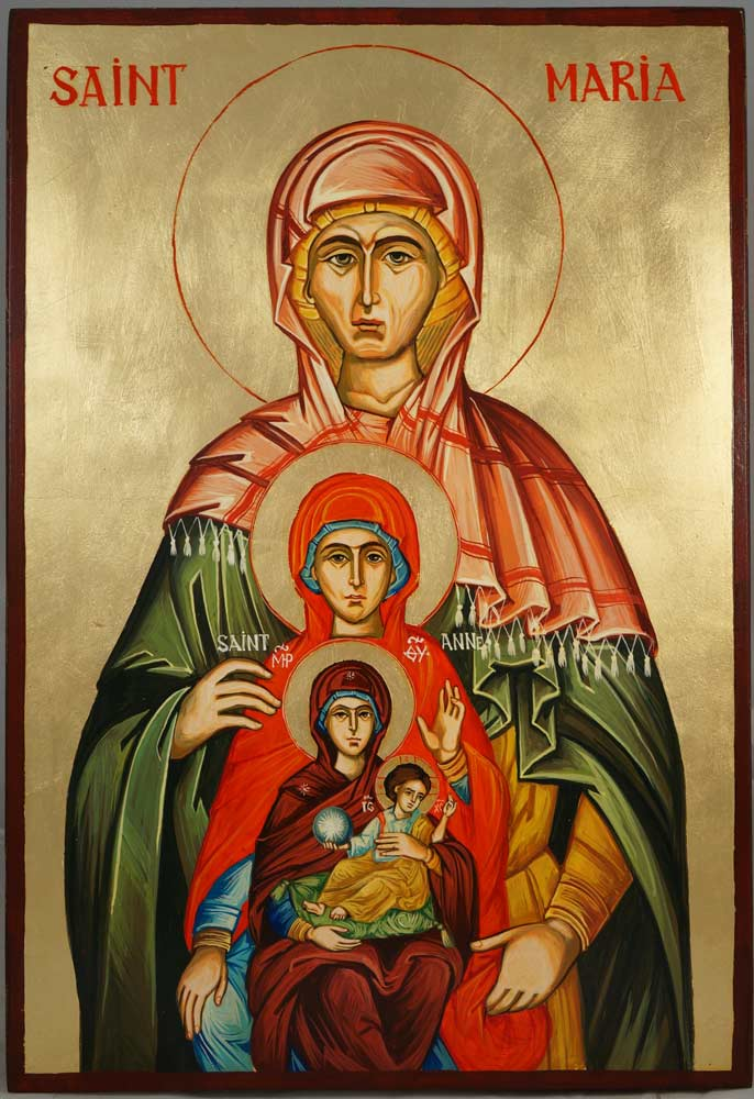 St Maria Great-Grandmother of Jesus Orthodox Icon - BlessedMart