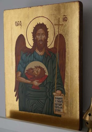 Saint St John the Baptist Hand Painted Orthodox Icon