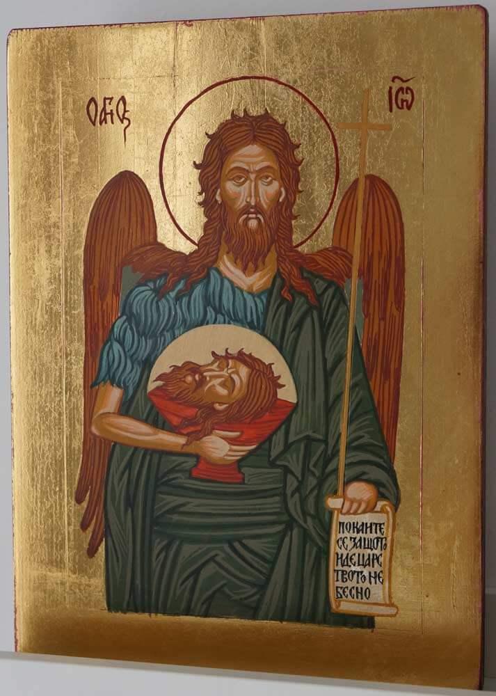 Saint St John the Baptist Hand Painted Orthodox Icon