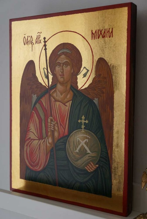 St Michael the Archangel Hand Painted Byzantine Orthodox Icon