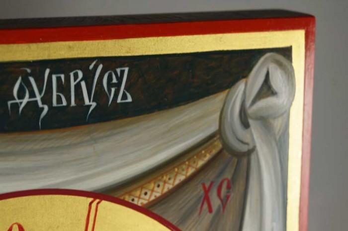 Mandylion Hand-Painted Byzantine Icon
