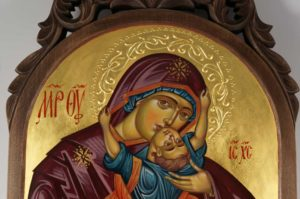 Theotokos with the Playing Child Hand-Painted Icon