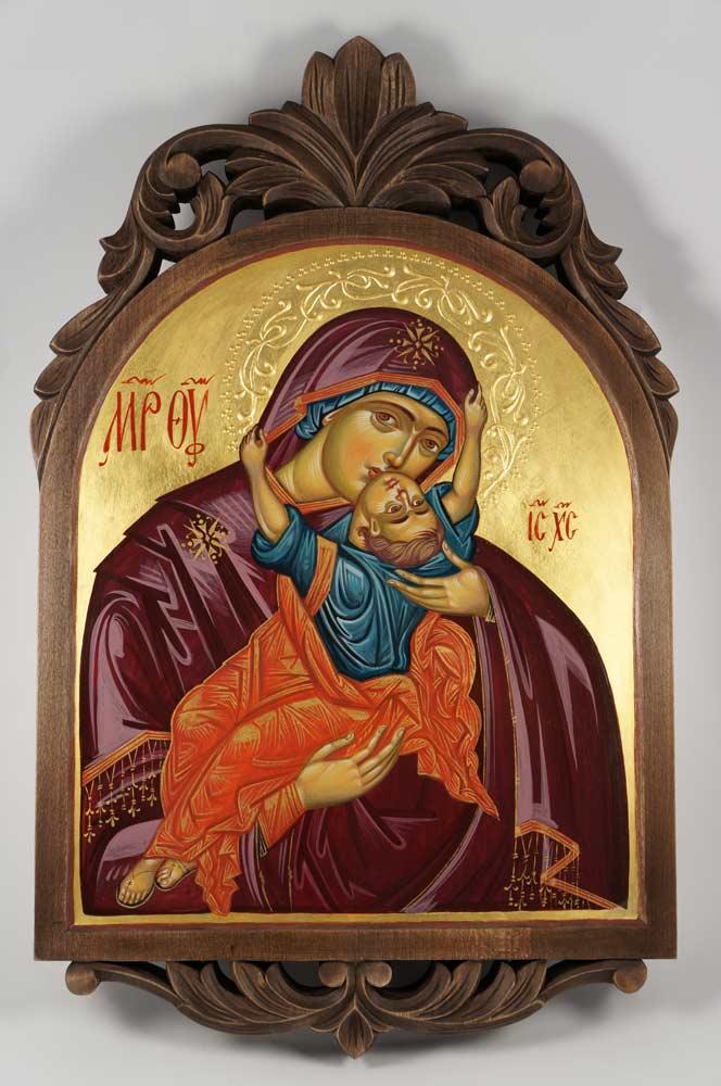 Virgin Mary Pelagonitissa Hand-Painted Byzantine Icon