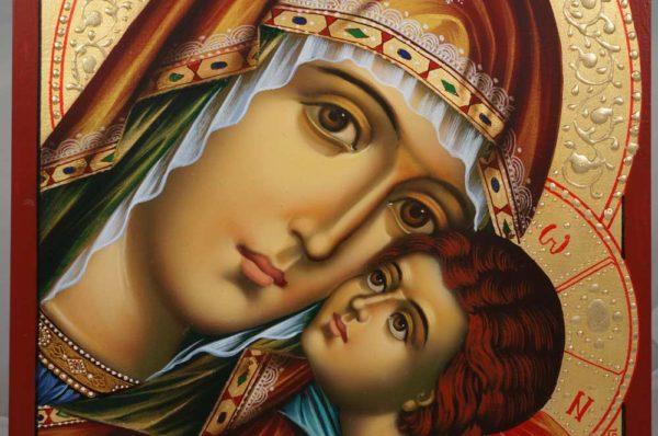 The Virgin Glykofilousa Hand-Painted Orthodox Icon
