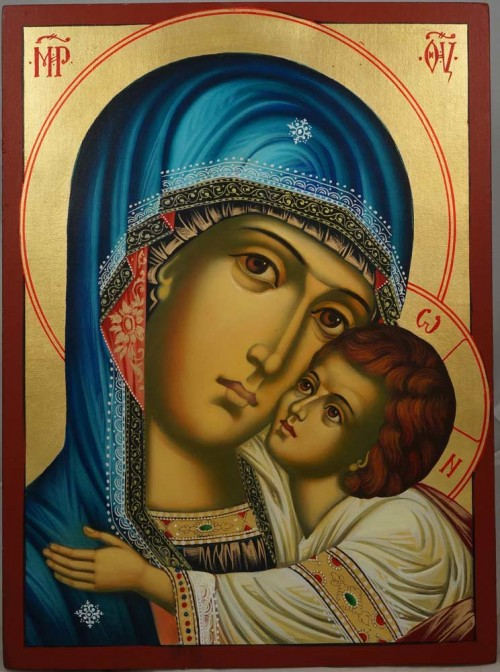 The Virgin Eleousa Hand-Painted Orthodox Icon