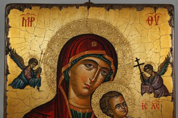 Theotokos of the Passion Hand-Painted Byzantine Icon
