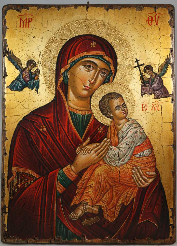 Virgin of Perpetual Succour (Cretan) Hand-Painted Byzantine Icon