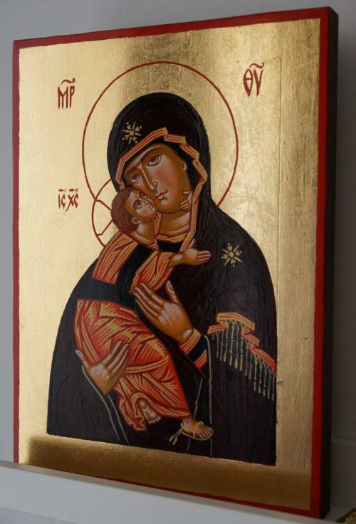 Vladimirskaya Mother of God Hand Painted Orthodox Icon
