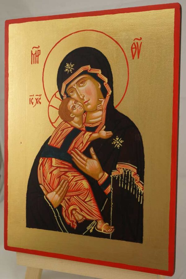 Vladimirskaya Mother of God Hand Painted Orthodox Icon on Wood