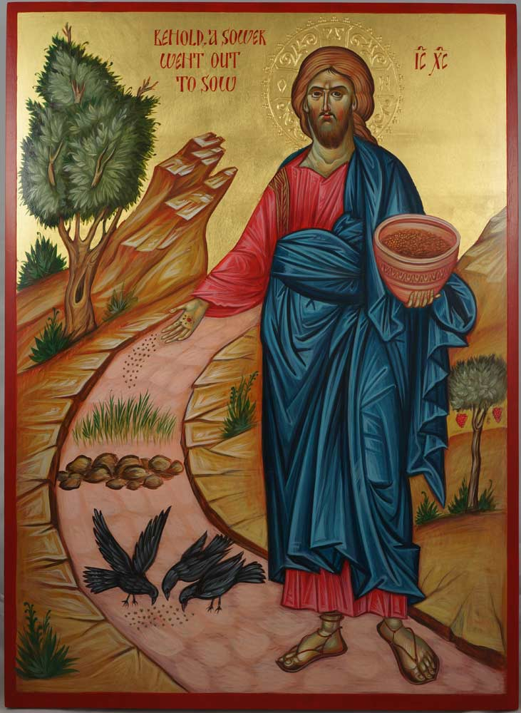 Parable of the Sower Hand-Painted Byzantine Icon
