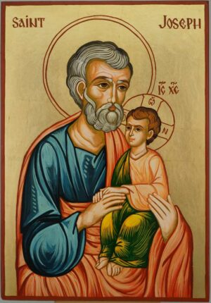 Saint Joseph Icon Orthodox Hand Painted Byzantine