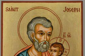 Saint Joseph Icon Orthodox Hand Painted Byzantine