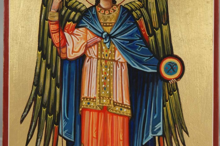 St Archangel Michael Handmade Icon on Wood
