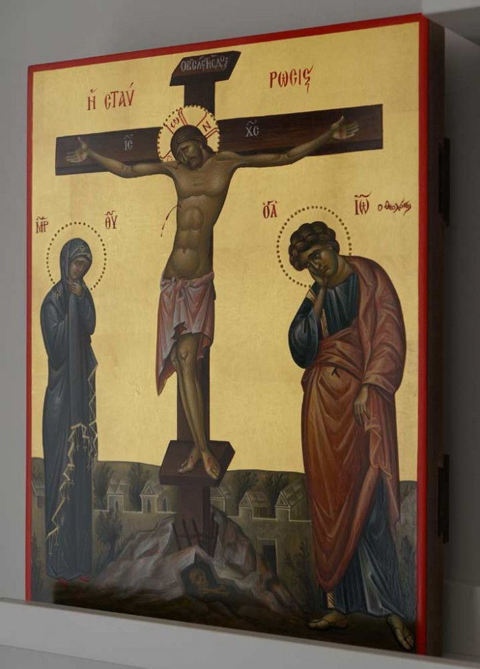 Crucifixion of Christ Hand-Painted Byzantine Icon