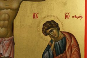Crucifixion of Jesus Hand-Painted Byzantine Icon