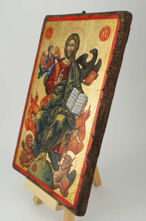 Jesus Christ in Glory Cretan Icon Hand Painted Byzantine Orthodox