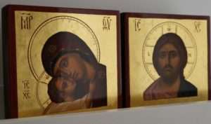 Pantocrator and Theotokos Matching Set Hand-Painted Icon