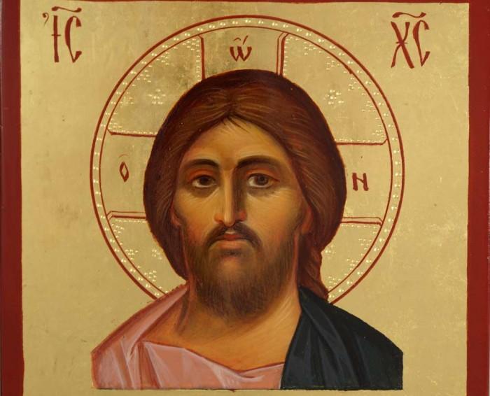 Jesus Christ Pantocrator Hand-Painted Icon Miniature