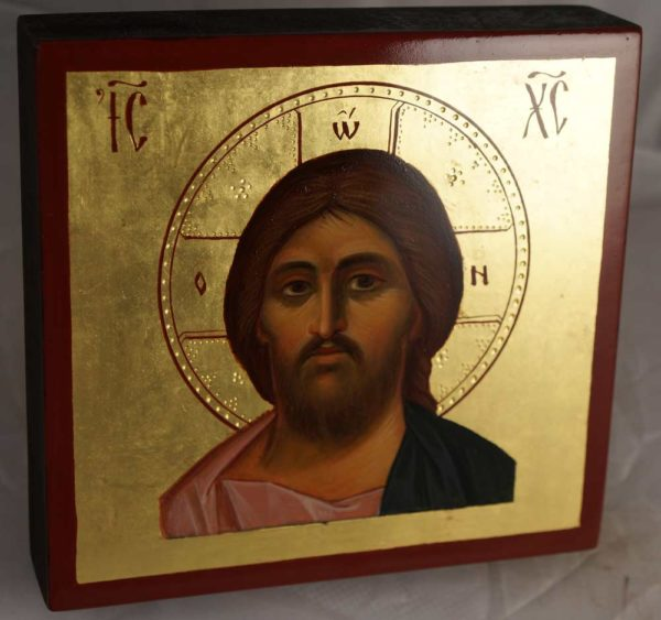 Jesus Christ Pantocrator Hand-Painted Icon Miniature