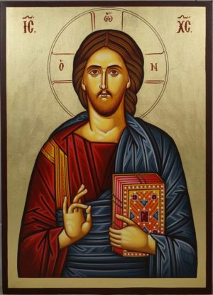 Christ Pantocrator Closed Book Hand-Painted Orthodox Icon