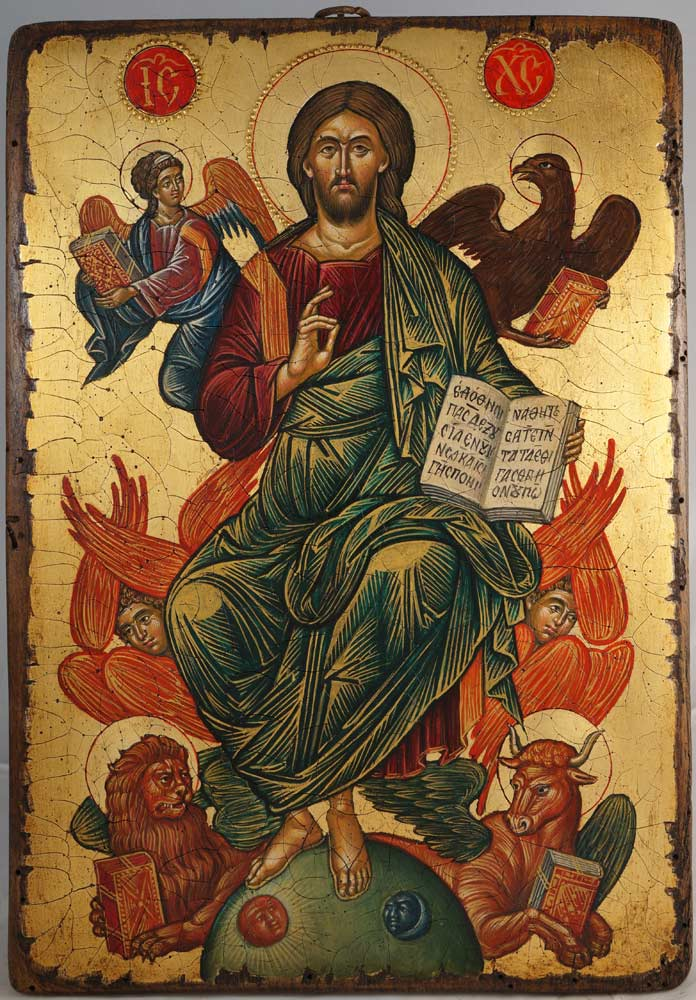 Jesus Christ in Glory Hand-Painted Byzantine Icon