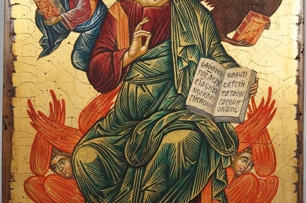 Christ in Glory Hand-Painted Cretan Orthodox Icon