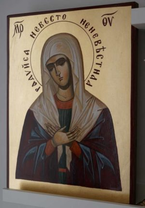 Mother of God Seraphim-Diveyevo Hand-Painted Orthodox Icon