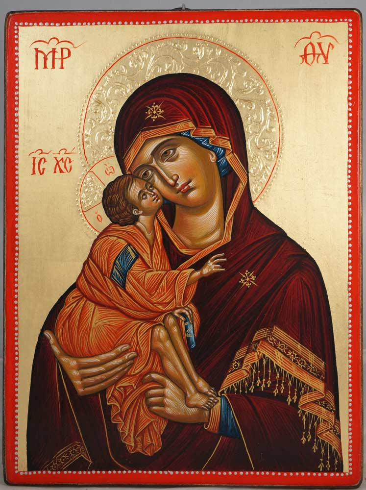 Our Lady of the Don Hand-Painted Byzantine Icon on Wood