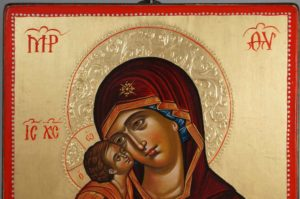 Virgin Mary Eleousa Theophanes the Greek Hand-Painted Icon
