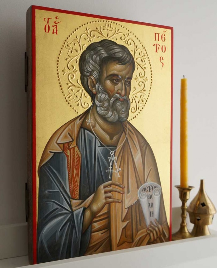 St Peter the Apostle Hand-Painted Byzantine Icon