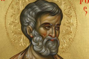 Saint Peter Hand-Painted Byzantine Icon on Wood