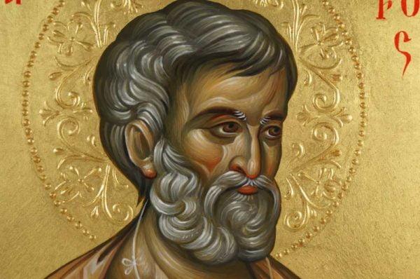 Saint Peter Hand-Painted Byzantine Icon on Wood