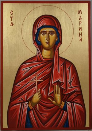 Saint Marina (Margaret) Hand-Painted Byzantine Icon