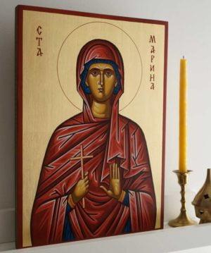 Saint Marina (Margaret) Hand-Painted Byzantine Icon