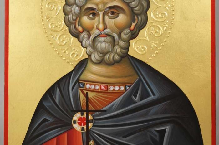 Saint Mina Hand-Painted Byzantine Icon