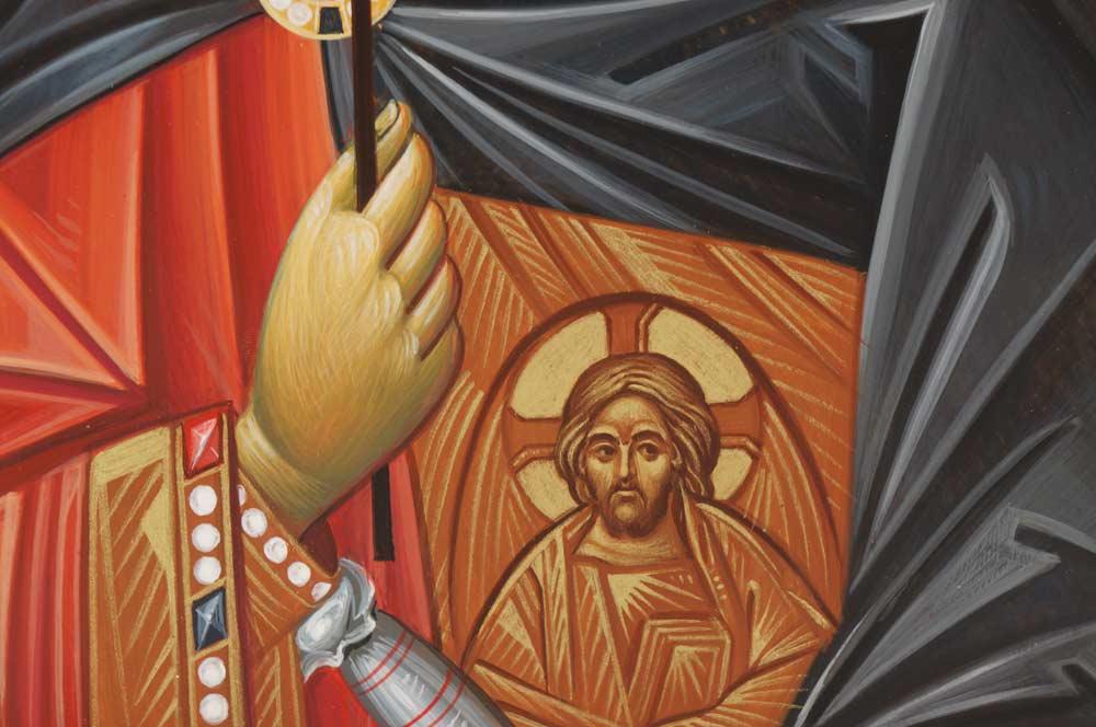 Saint Mennas Hand-Painted Byzantine Icon