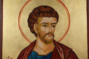 Hand-Painted Byzantine Icon of Apostle Luke the Evangelist