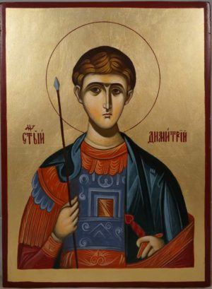 St Demetrius (Mount Athos) Hand-Painted Greek Orthodox Icon