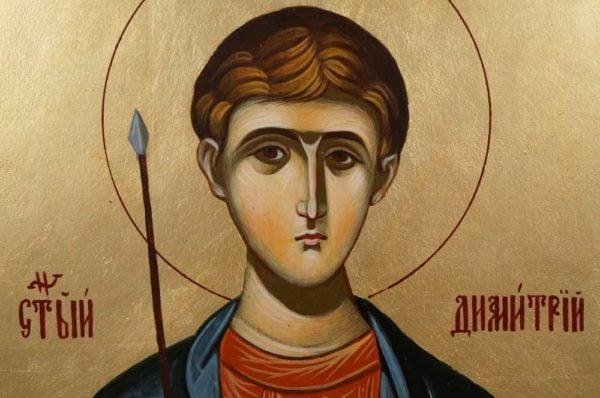 St Demetrius (Mount Athos) Hand-Painted Greek Orthodox Icon