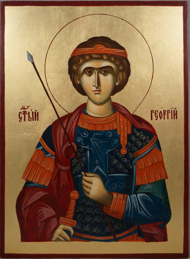 St George (Mount Athos) Hand-Painted Greek Orthodox Icon