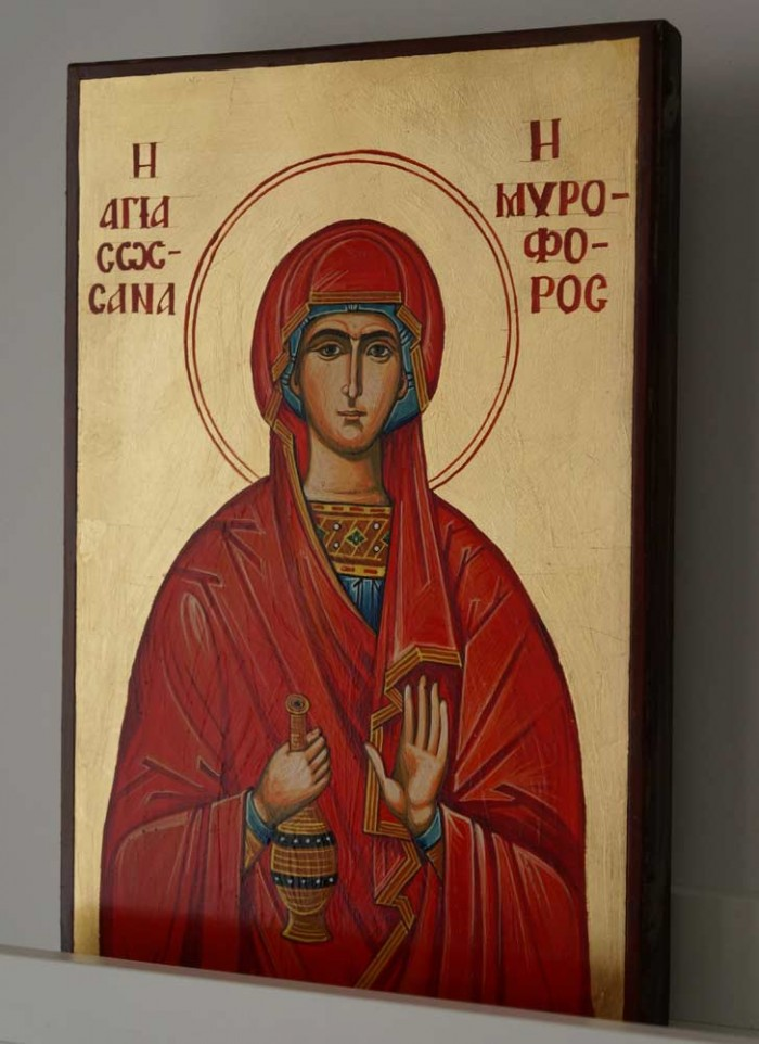 Saint Susanna Hand-Painted Orthodox Icon on Wood