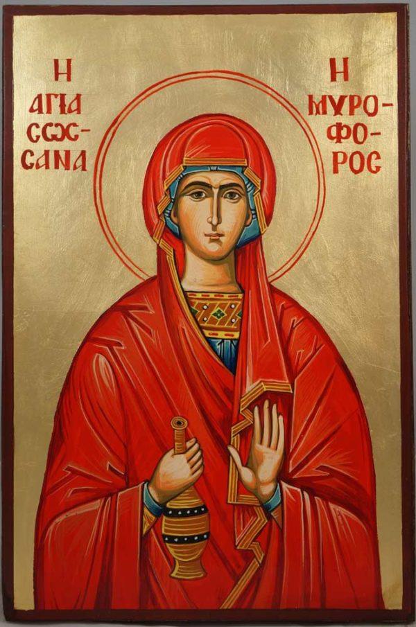 Saint Susanna Hand-Painted Orthodox Icon on Wood