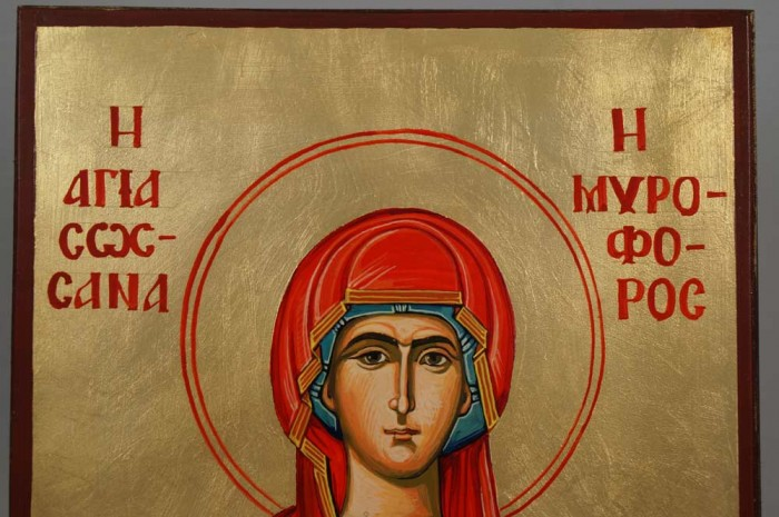 St Susanna Hand-Painted Orthodox Icon on Wood