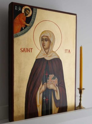 St Ita the Hermitess of Killeedy Hand-Painted Orthodox Icon