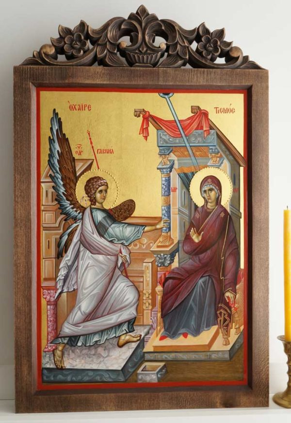 Annunciation (Ohrid) Hand-Painted Byzantine Icon