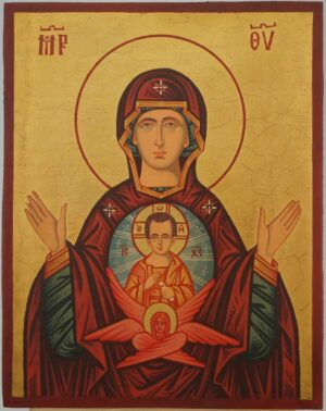 Theotokos of the Sign Icon Hand Painted Byzantine Orthodox
