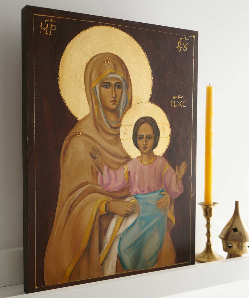 Theotokos (Alexander Nevsky) Hand-Painted Orthodox Icon