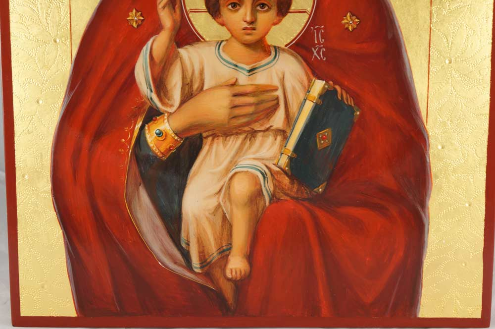 Mother of God of Valaam Hand-Painted Byzantine Icon