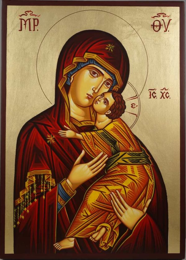Vladimir Mother of God Hand-Painted Orthodox Icon